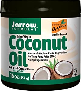 Jarrow Formulas Coconut Oil 100% Organic, Extra Virgin, 16 Ounce