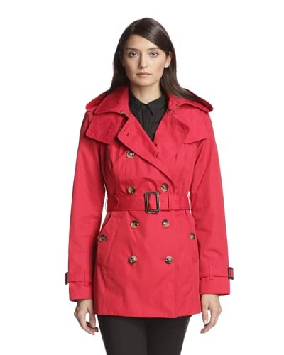 London Fog Women's Double-Breasted Trench