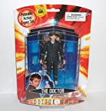 Doctor who the doctor in pinstripe suit and 3-d glasses with top trump card