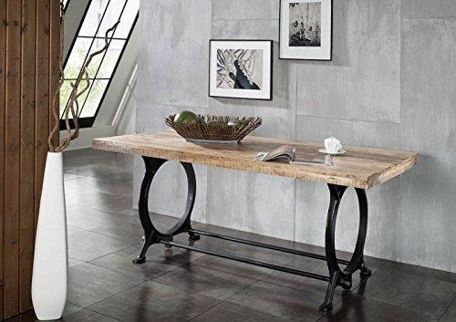 legno antico laccato industriale stile tavolo da pranzo 240X100 MOBILI IN LEGNO MASSELLO FERRO IN LEGNO MASSELLO INDUSTRIALE #30