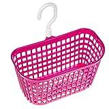 Water & Wood Hollow Out Plastic Bathroom Hanging Hook Grid Basket Holder Hot Pink