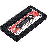 kwmobile® TPU Silikon Case mit Kassetten Design für Apple iPhone 4 / 4S in Schwarz - Stylisches Designer Case aus hochwertigem weichem TPU