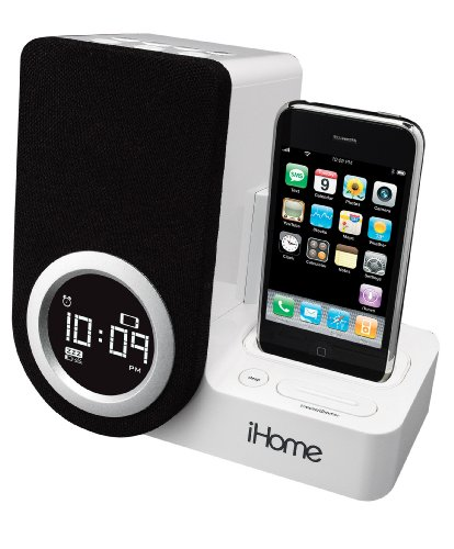 ihome ip41 rotating alarm clock for ipod and iphone 004753289293. Black Bedroom Furniture Sets. Home Design Ideas