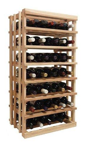 3 Ft. Open Vertical Display Wine Rack (Premium Redwood - Unstained) front-610215