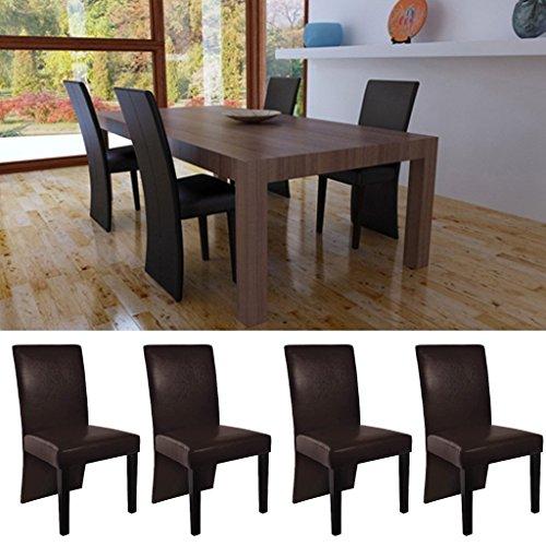 Sedie design moderne legno e ecopelle caffe 39 per salotto for Sedie moderne salotto