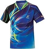 ニッタク(Nittaku) 男女兼用 卓球 ゲームシャツ スカイワールド (ジュニア対応) NW2160 ブルー(09)