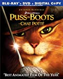 Puss in Boots / Le chat pott� (Bilingual) [Blu-ray + DVD + Digital Copy]