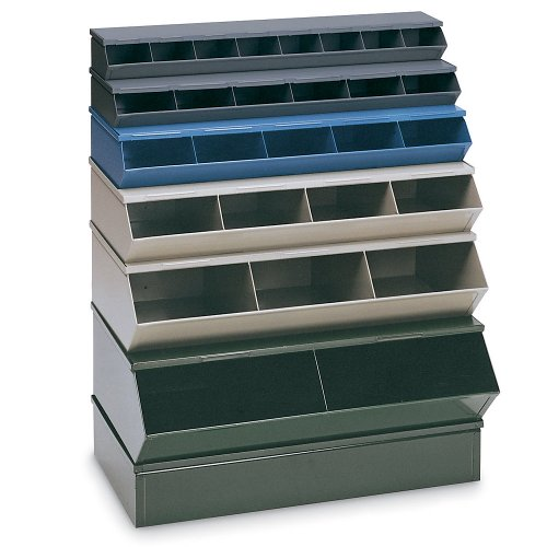 "Stackbin Steel Sectional Bin Strips - 37""Wx24""Dx11""H - Green - Green"