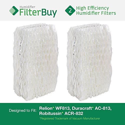 AC-813 Duracraft Humidifier Wick Filters (Pack of 2). Fits Duracraft Humidifier models DH830, DH832, HC832. Designed by AFB in the USA. - 1