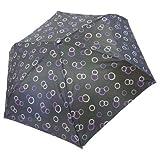 【レイングッズ】折りたたみ傘/55cm(ドットパープル)