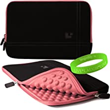buy Tablet Device Sumaclife Accessories Onyx With New York Pink Trim Drumm Neoprene Sleeve Carrying Case For Cisco Cius Tablet Device + Vangoddy Live+Laugh+Love Wristband