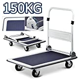 Beyondfashion Folding Platform Hand Trolley Cart Truck Warehouse Flat Picking Bed Sack Truck