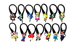 14 pcs Mario Brothers 3 Soft Zipper Pull Charms for Bag Jacket