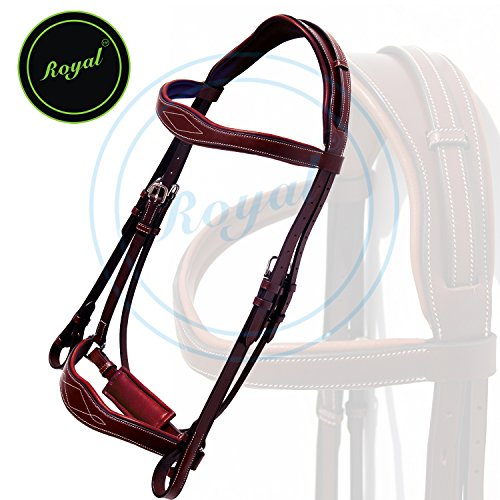runners-wave-dressage-bridle-with-punch-and-loop-stylish-head-piece-pp-rubber-grip-reins-buffalo-lea