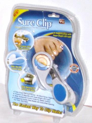 Sure Advanced Nail Clipper with Magnifier & LED Light