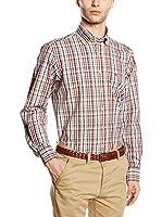Casamoda Camisa Hombre (Rojo / Beige)