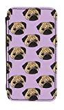 Disguised® 'Pug Life' iPhone 5 5S PU Leather Flip Case Cover Designed by Katie Reed