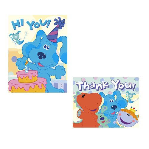 Blue's Clues Room Invitations and Thank You Notes - 8 Count