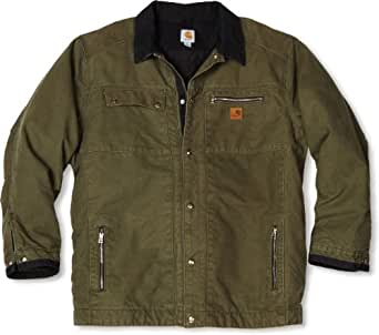 Carhartt men 39 s big tall quilted flannel for Big and tall lined flannel shirts
