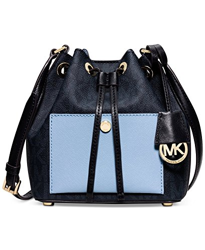 MICHAEL Michael Kors Greenwich Small Bucket Bag  Baltic Blue/Light Sky (Michael Kors Light Blue Bag compare prices)