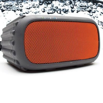 Ecoxgear - Ecorox Rugged And Waterproof Wireless Bluetooth Speaker - Orange