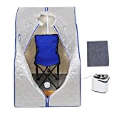 AW Portable Silver Personal Therapeutic Steam Sauna SPA Detox Weight Loss Indoor