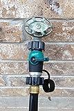 Garden Hose to Hose Shut Off Valve Arthritis Friendly Faucet Extension - Ergonomic, Aesthetic, and Highly Durable