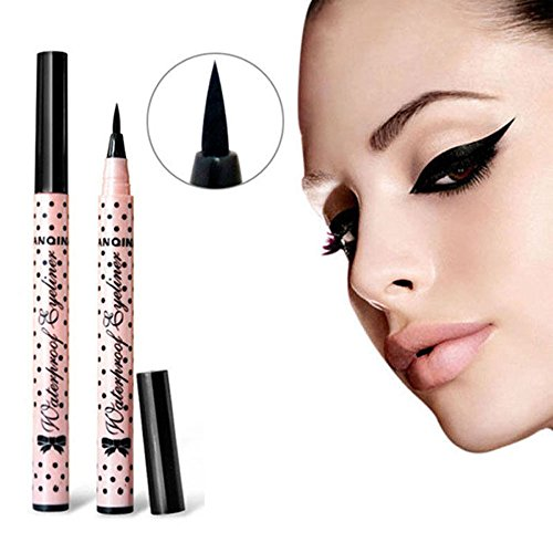 Eyeliner Pen, Kinghard Makeup Cosmetic Black Liquid Eye Liner Pencil (La Colors Eye Liner compare prices)