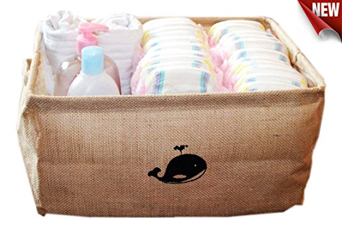 Jute Storage Container/Storage Baskets/Toy Box/Toy Storage/Toy Organizer/Baby Storage Bins (Baby Fabric Baskets compare prices)