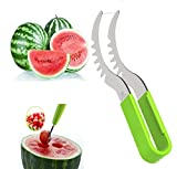 Watermelon Slicer Corer watermelon Cutter & Server cantaloupe cutter melon slicer High Quality Stainless Steel with FREE Melon Baller and Fruit Carving Knife ( As Seen on TV )