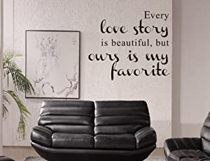 Good Life Every Love Story is Beautiful Quote Love Wall Sticker Home D¨¦cor from decalgeek
