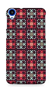 Amez designer printed 3d premium high quality back case cover for HTC Desire 820 (Cells white black gray)