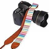 ZEROPORT JAPAN ネックストラップ デジタル 一眼レフカメラ用 ワイドストラップ 各メーカー対応 (パステルピンク基調)