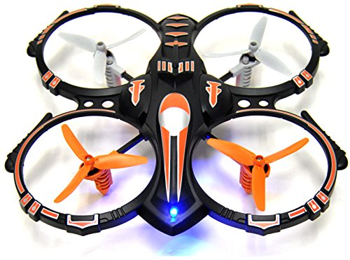 RC Stunt Drone Quadcopter w/ 360 Flip: Crash Proof, 2.4GHz, 4 CH, 3 Bladed Propellers, Extra Drone Battery for Extended Fly Time w/ Practice Landing Pad, 2 USB Charger & Spare Parts (Camera Chopper Remote Control compare prices)