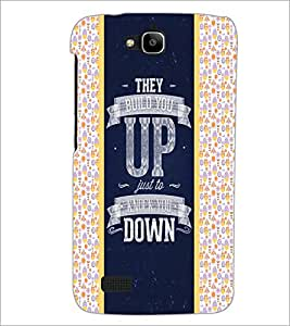 PrintDhaba Quote D-4821 Back Case Cover for HUAWEI HONOR HOLLY (Multi-Coloured)