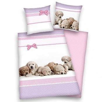 pas cher parure housse de couette linge de lit 1 personne enfant fille chien animaux acheter. Black Bedroom Furniture Sets. Home Design Ideas