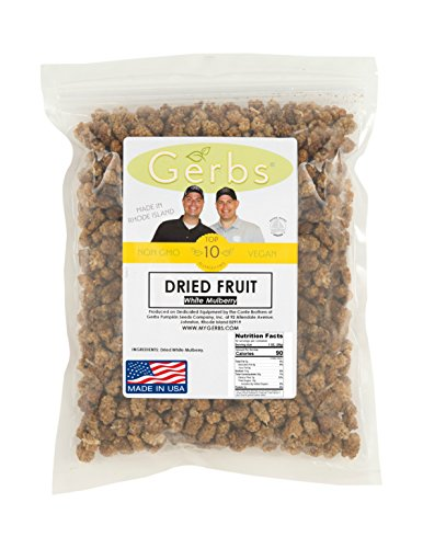 Dried White Mulberries By Gerbs No Sugar Added- 2 LBS Premium - Import It  All