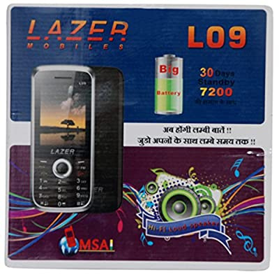 Lazer L-09 Heavy Battery Dual Sim Camera Mobile in Silver Color