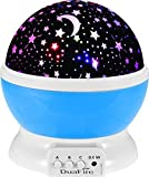 DuaFire Night Lighting Lamp 3 Model Light Romantic Rotating Cosmos Star Sky Moon Projector , Rotation Night Projection Lamp for Children ,Christmas Gift ,Kids Bedroom (Blue)