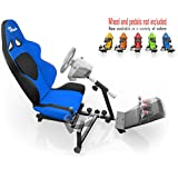 Openwheeler Racing Wheel Stand Cockpit Blue/Black | For Logitech G29 | G920 and Logitech G27 | G25 | Thrustmaster Wheels | Racing wheel & controllers NOT included