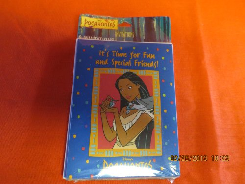 Disney's Pocahontas It's Time for Fun and Special Friends Party Inviatations - 1