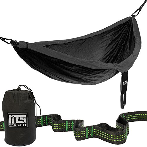 Double-Camping-Hammock-With-2-Free-Bonus-Hanging-Tree-Straps-and-Carabiners-Ultralight-Portable-Compact-Parachute-Nylon-Perfect-for-Outdoor-Backpacking-Hiking-Beach-Backyard-Camping-Travel