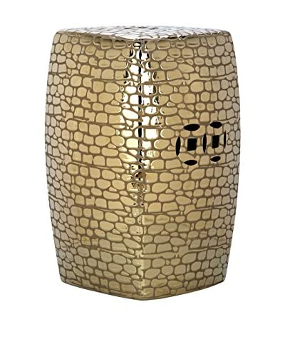 Safavieh Jasmine Garden Stool, Plated Gold