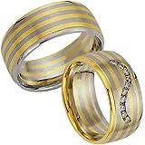 """Diaz Fashion Trauringe 585 Gelb-/Wei�gold mit Brillanten (Paar Ringe bedeutet Paarpreis)von """"DS"""""""