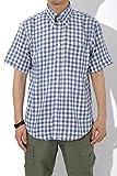 (リピード) REPIDO チェック シャツ 半袖 ブロード ギンガムチェック メンズ ブルー(ギンガムチェック) XLサイズ