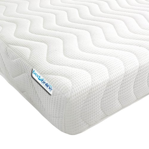 Bedzonline Memory Foam and Reflex 3 Zone Mattress with 1 Fibre Pillows Micro Quilted cool flex Cover, Single, 3 ft, 90cm x 190 cm