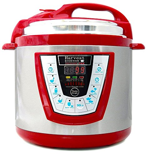 Harvest Cookware Pressure PRO Automatic 1 Touch Pressure Cooker 6-Quart, Red (Harvest Electric Pressure Cooker compare prices)