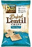 Mediterranean Snacks Sea Salt Baked Lentil Chips 4.5-ounce (Pack of 12)