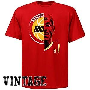 NBA Majestic Hakeem Olajuwon Houston Rockets Hardwood Classics Game Face T-Shirt -... by Majestic