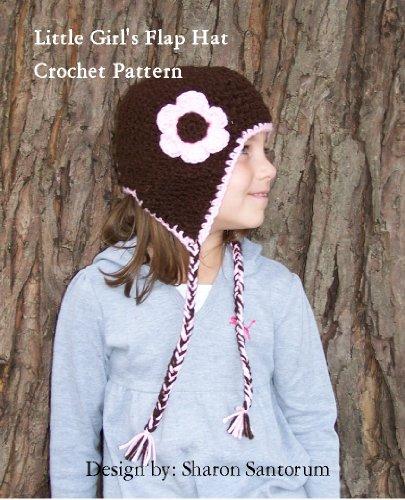 little-girls-flap-hat-crochet-pattern-english-edition